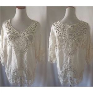 ARK & CO peasant blouse.  NWOT. Size Large